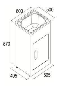 Laundry Tub 600 2