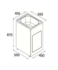 Laundry tub Compact 35L – 455mm