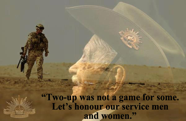 Why we play two-up on Anzac Day